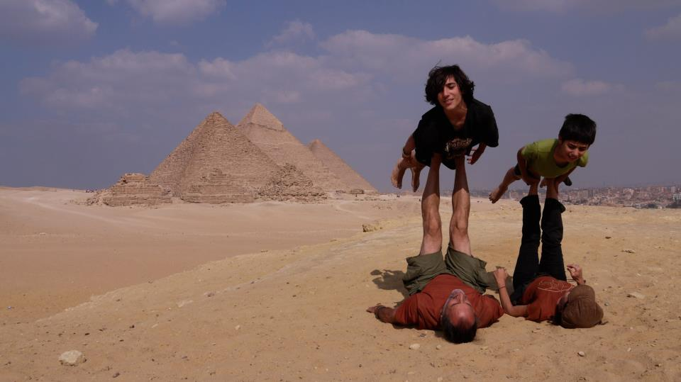 acro at the pyramids